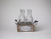 Ваза декоративная с 4  бутылочками