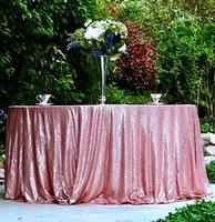 Скатерть «Розовая» пайетка