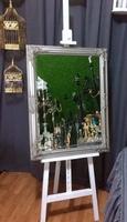зеркало в раме (серебро)