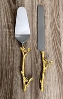 Набор «нож и лопатка»для торта  4*