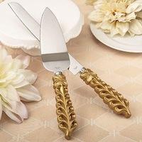 Набор «нож и лопатка» для торта - 3